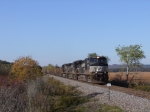 NS 9196 leads train 524 eastbound to milepost 78 and Gourley road. In 25 minutes this train would hit a state trooper car in Union City